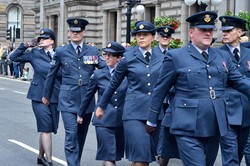 Royal Air Force March in George Square Glasgow 2014