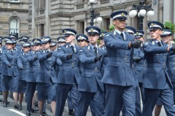 Universities of Glasgow and Strathclyde Air Squadron on Parade Glasgow 2014