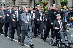 Royal Scots Dragoon Guards Veterans Parade in Glasgow 2014