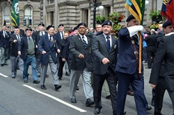 Veterans on Parade - Glasgow Armed Forces Day 2014