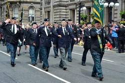 Cameronians (Scottish Rifles) - Glasgow Armed Forces Day 2014
