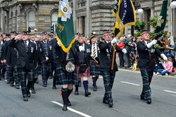 Veterans in George Square Glasgow 2014
