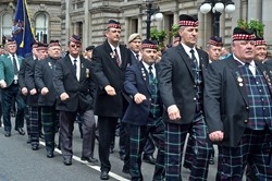 Royal Highland Fusiliers Veterans - Armed Forces Day 2014 Glasgow