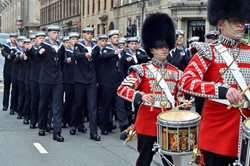 Drummers of the Scots Guards - WW1 Commemoration Parade Glasgow.