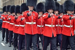 Scots Guards Parade in Glasgow