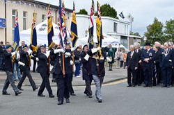 Standard Bearers RBL - Armed Forces Day 2014 Grangemouth