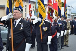 Standard Bearers - Armed Forces Day 2014 Grangemouth
