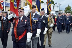 Standard Bearers Parade - Grangemouth Armed Forces Day 2014
