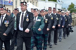 Argyll & Sutherland Highlanders Veterans - Armed Forces Day Grangemouth 2014
