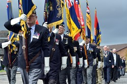 Royal British Legion and Military Standards - Grangemouth Armed Forces Day 2014