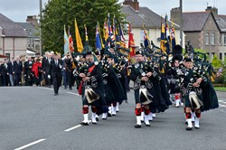 Argyll & Sutherland Highlanders Regimental Association Pipes and Drums - Grangemouth 2014