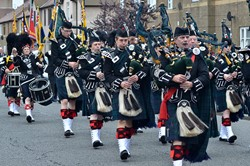 Argyll & Sutherland Highlanders Pipes and Drums - Grangemouth AFD 2014
