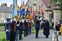 Drumhead Service Reverend Stephen Blakey - Grangemouth Armed Forces Day 2104