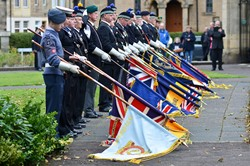 Standards Dipped at Drumhead Service - Grangemouth Armed Forces Day 2014