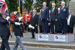 Lieutenant General Sir Alistair Irwin Grangemouth War Memorial - Armed Forces Day 2014