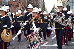 Royal Marines Military Band - West George Street Glasgow 2014