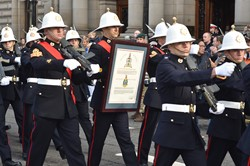 Royal Marines Freedom Ceremony - George Square Glasgow November 2014
