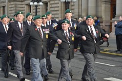 Royal Marine Veterans - George Square, Glasgow 2014