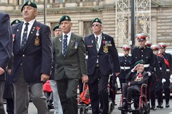 Veterans Royal Marines - George Square Glasgow 2014