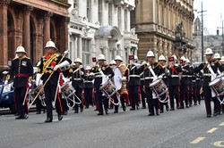 RM Band Scotland - Freedom Parade Glasgow 2014