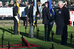 Lieutenant General Sir Alistair Irwin Royal British Legion - Garden of Remembrance Edinburgh 2014