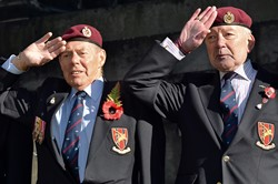 Airborne Engineers Association Veterans - Garden of Remembrance Service Edinburgh 2014