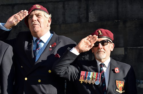 Airborne Engineers Association - Garden of Remembrance Service Edinburgh 2014