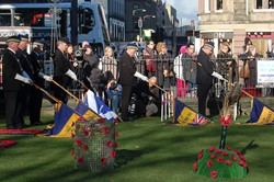 Standards Dipped Royal British Legion - Garden of Remembrance Edinburgh 2014