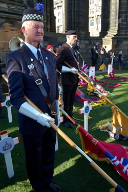 Jedburgh Royal British Legion - Garden of Remembrance Edinburgh 2014