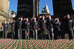 Airborne Engineers Association (AEA) - Garden of Remembrance Service Edinburgh 2014