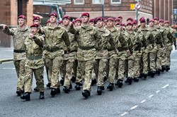 Parachute Regiment - Remembrance Sunday Glasgow 2014