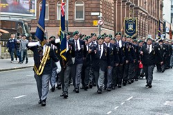 Royal Marines Veterans Association - Remembrance Sunday Glasgow 2014