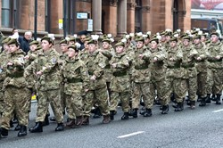 Army Cadets - Remembrance Sunday Glasgow 2014