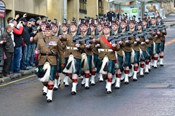 52nd Lowland (6 Scots) - Remembrance Sunday Glasgow 2014