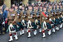 6 Scots Royal Regiment of Scotland - Remembrance Sunday Glasgow 2014