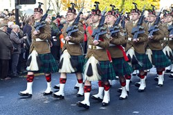 Royal Regiment of Scotland 6 Scots Battalion - Remembrance Sunday Glasgow 2014