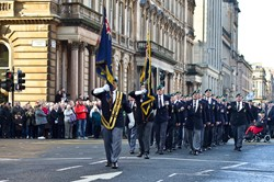 Royal Marine Veterans - Remembrance Sunday Glasgow 2014