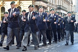 Royal Marine Veterans - Remembrance Sunday Ceremony Glasgow 2014