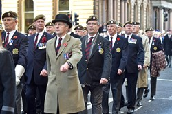 Scots Guards Association - Remembrance Sunday Glasgow 2014