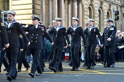 Royal Naval Reserve HMS DALRIADA - Remembrance Sunday Glasgow 2014