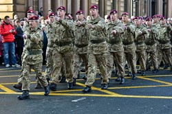 Parachute Regiment Parade on Remembrance Sunday Glasgow 2014