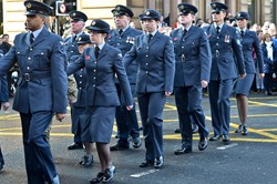 Royal Air Force Parade in Glasgow Remembrance Sunday 2014