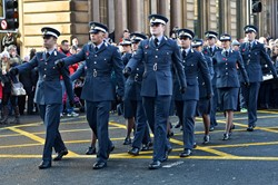 Universities of Glasgow and Strathclyde Air Squadron Parade - Remembrance Sunday Glasgow 2014