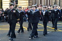 Sea Cadets - Remembrance Sunday Glasgow 2014