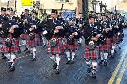 Scottish Fire and Rescue Pipe Band - Remembrance Sunday Glasgow 2014