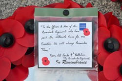 Wreath 4th Battalion Parachute Regiment - Remembrance Sunday Glasgow 2014