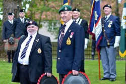 Veterans at Service to Commemorate Victory in Europe - Knightswood, Glasgow 2015
