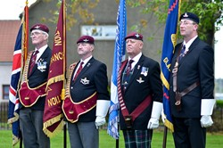 Standard Bearers - Veterans Memorial Monument, Glasgow 2015