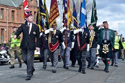 Veterans on Parade - Veterans Memorial Monument, Glasgow 2015