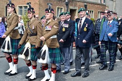 Parade at Veterans Memorial Monument, Glasgow 2015